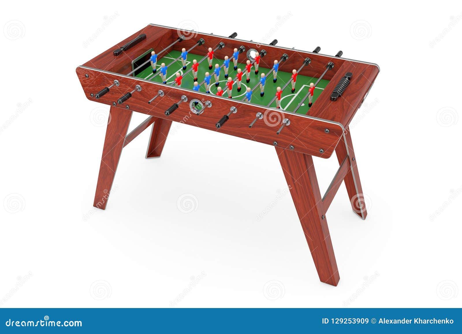 Partido de fútbol de la tabla del fútbol representación 3d