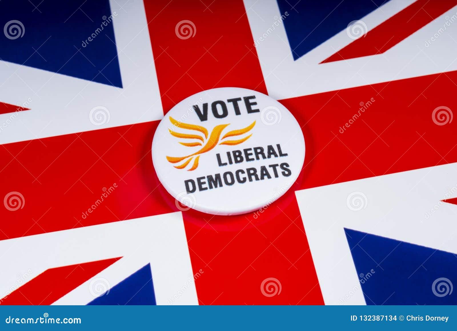 Partido político liberal de Democratas no Reino Unido