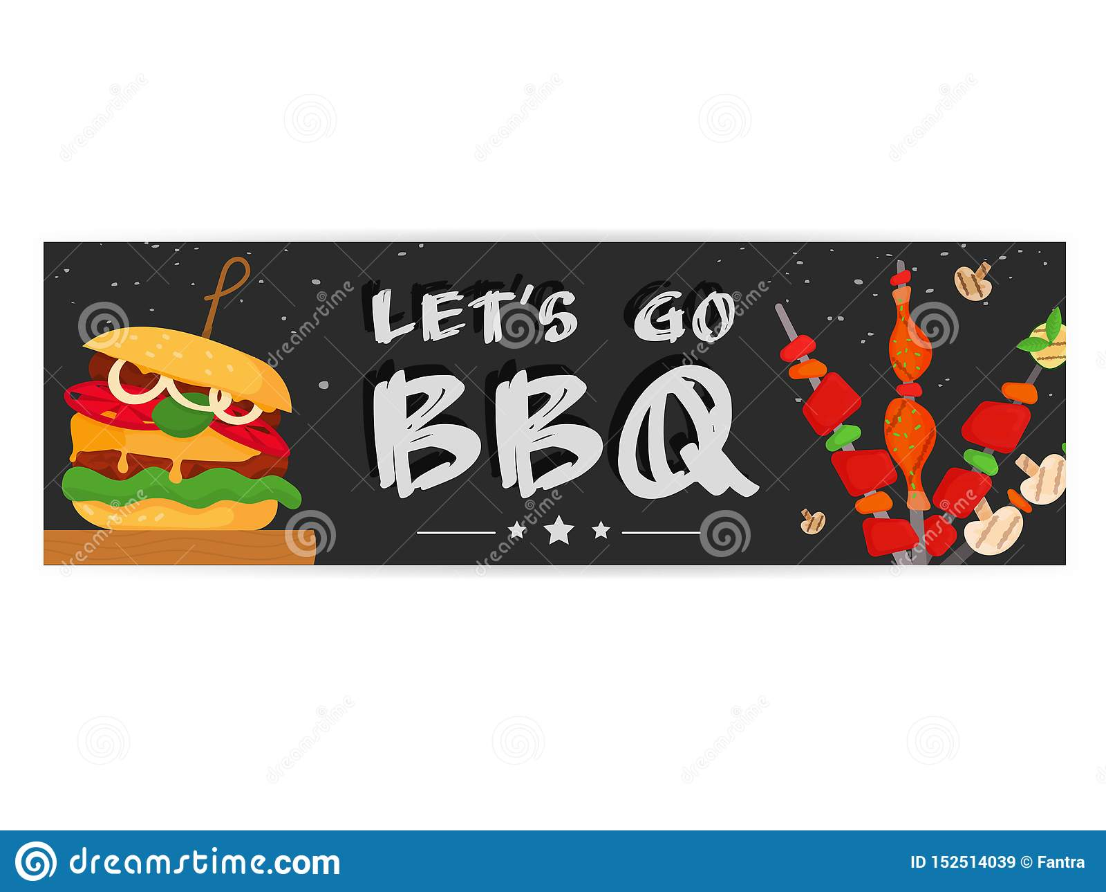 Partie de barbecue, menu, conception d invitation BBQ