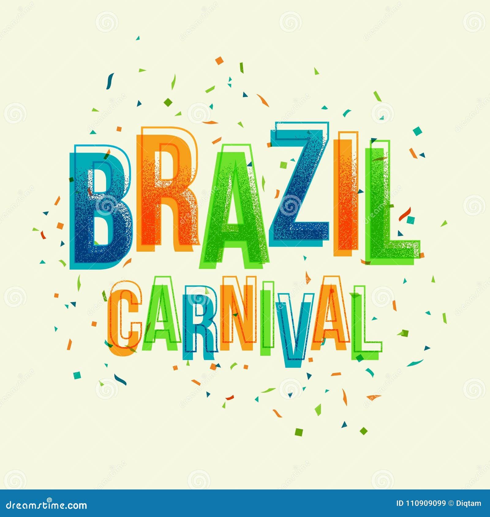 Partie de carnaval du Brésil avec la lettre colorée