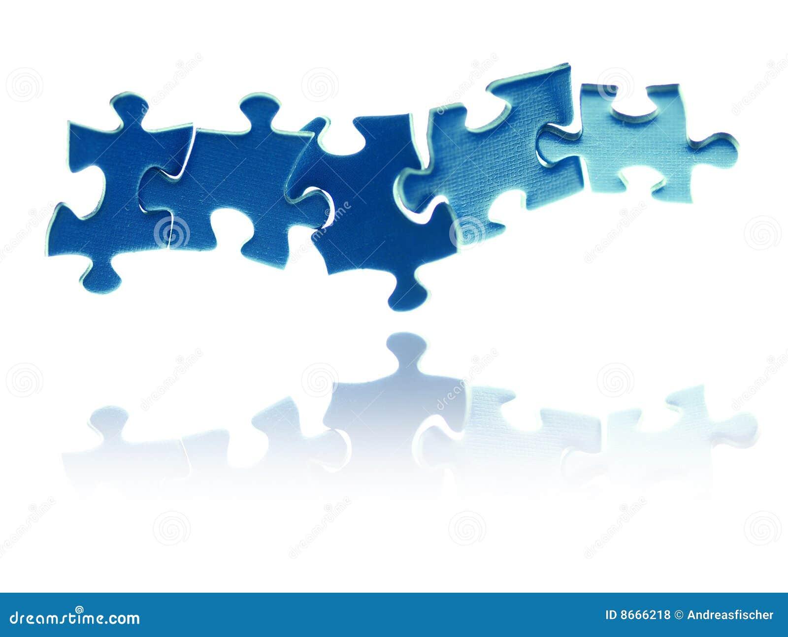 Parties de verrouillage de puzzle