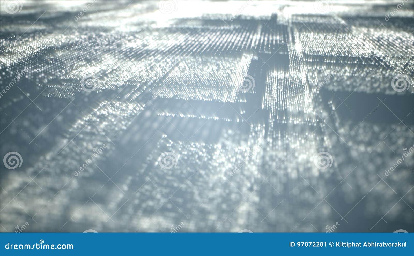 Partiklar för Digital Cyberutrymme