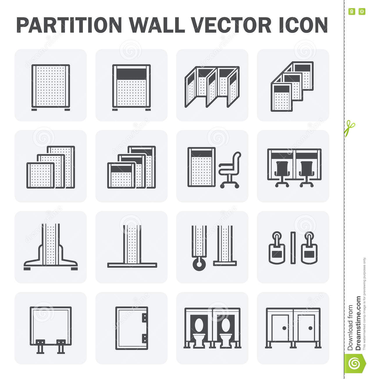 Partition Wall Icon Stock Vector Image 73734804