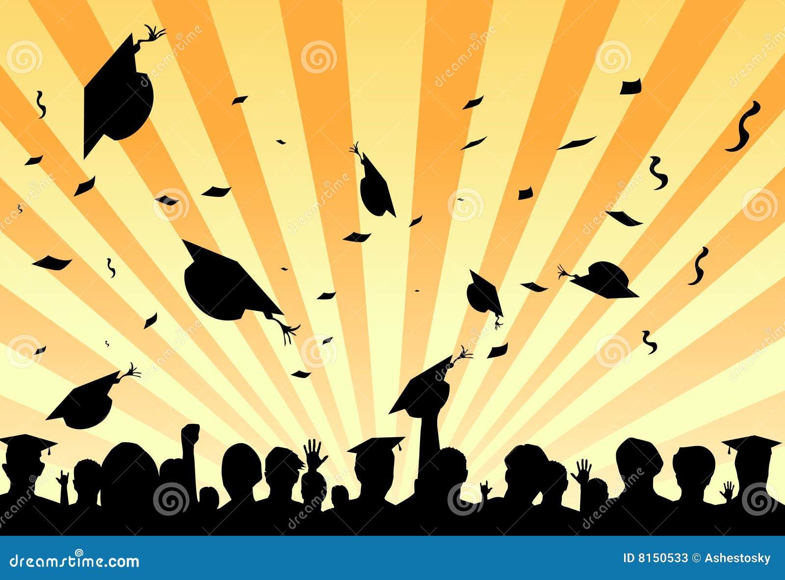 Partito di giorno di graduazione dagli allievi