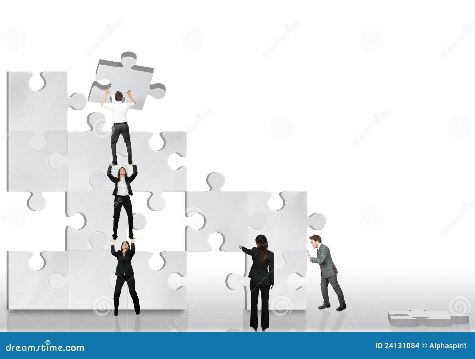 Partnera biznesowy wpólnie praca