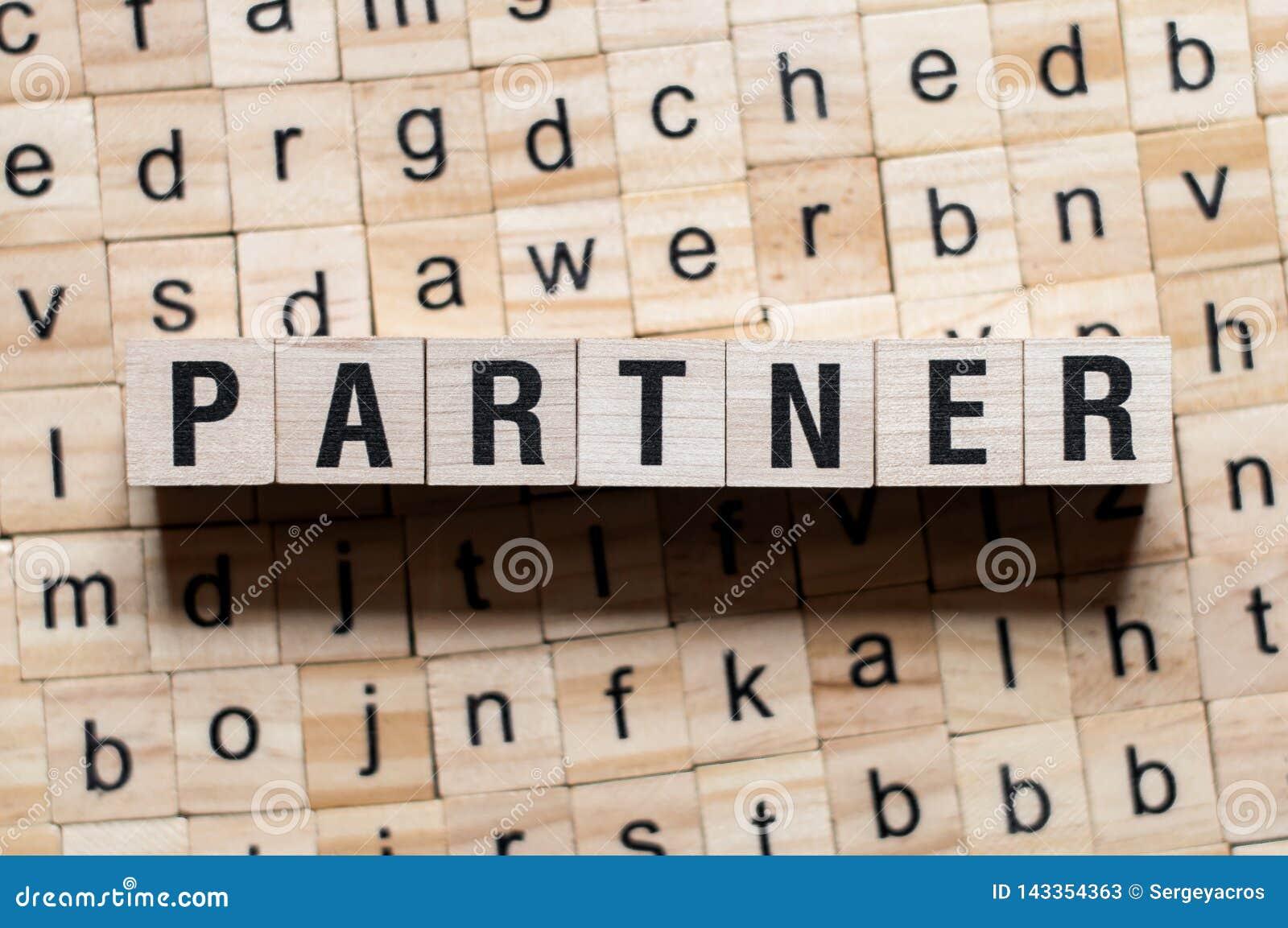 Partnera słowa pojęcie