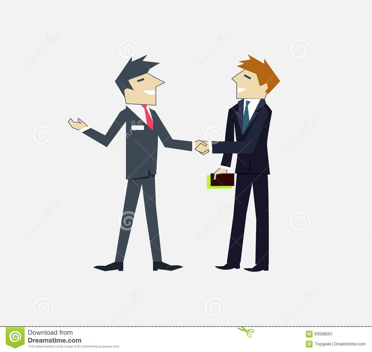 Partners people icon flat design partnership business man and