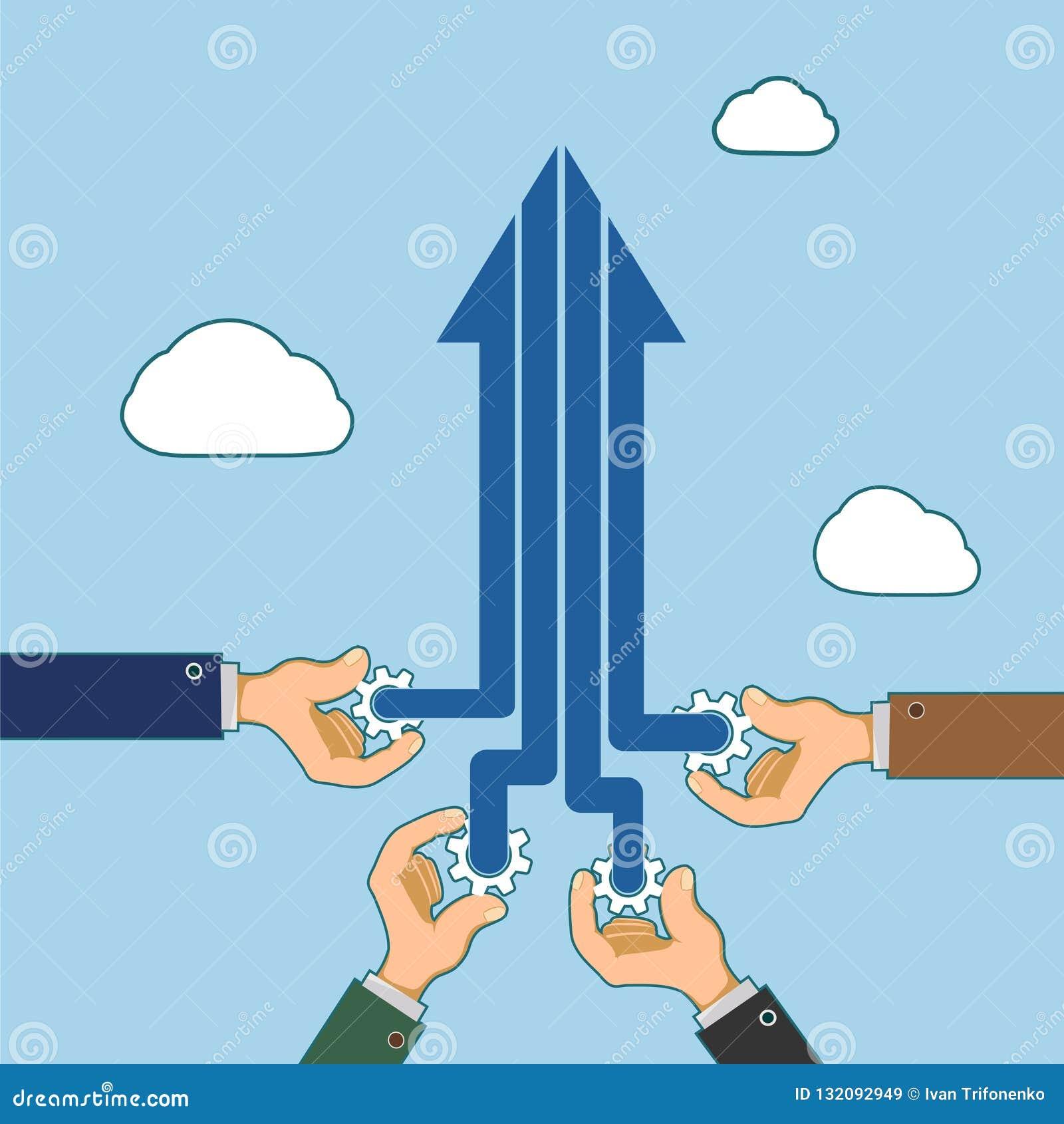 Partnerschaft und Zusammenarbeit Kreativ und Erfolg in einem Geschäft