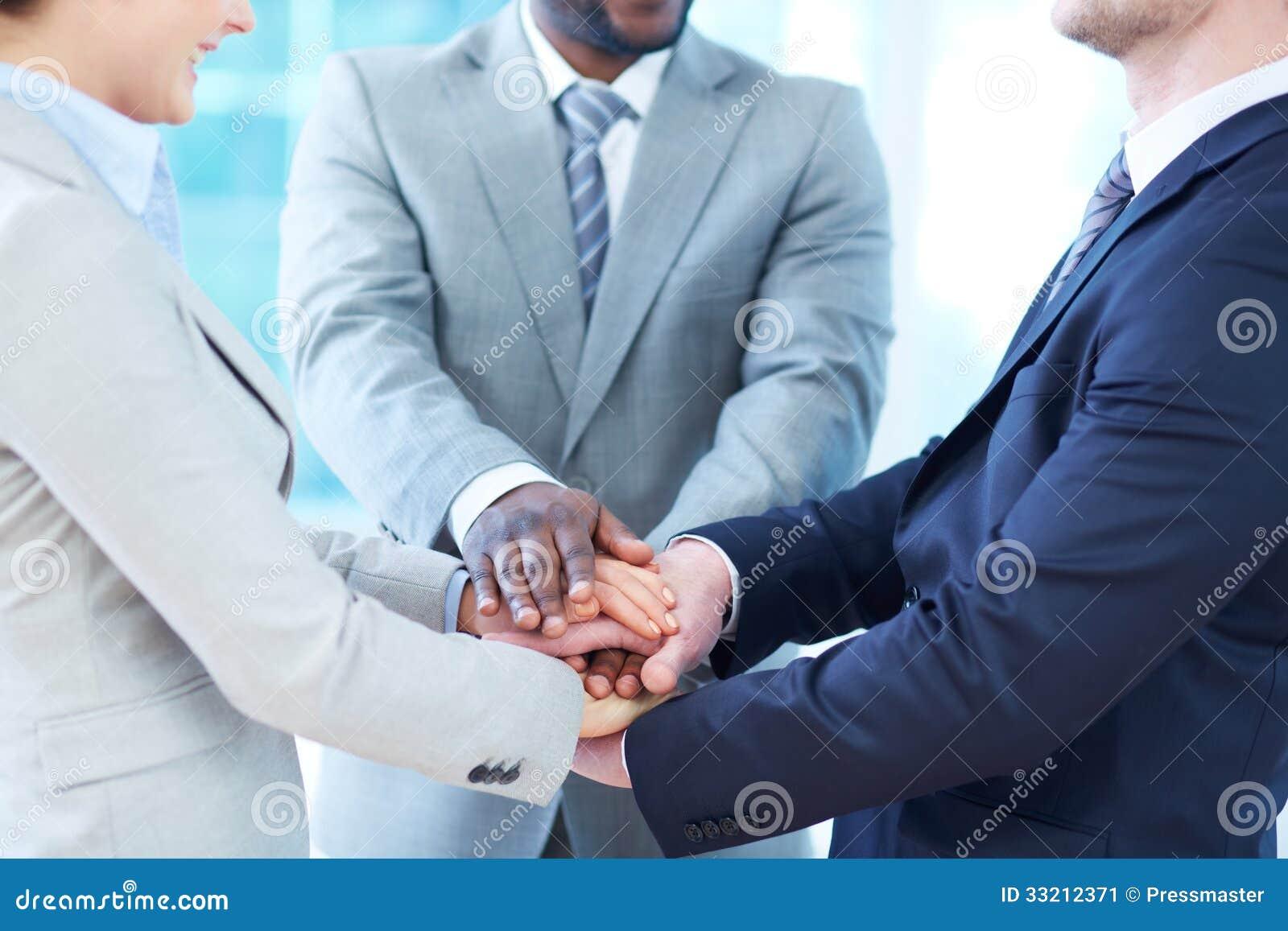 Partnership stock image. Image of female, finger, help ...