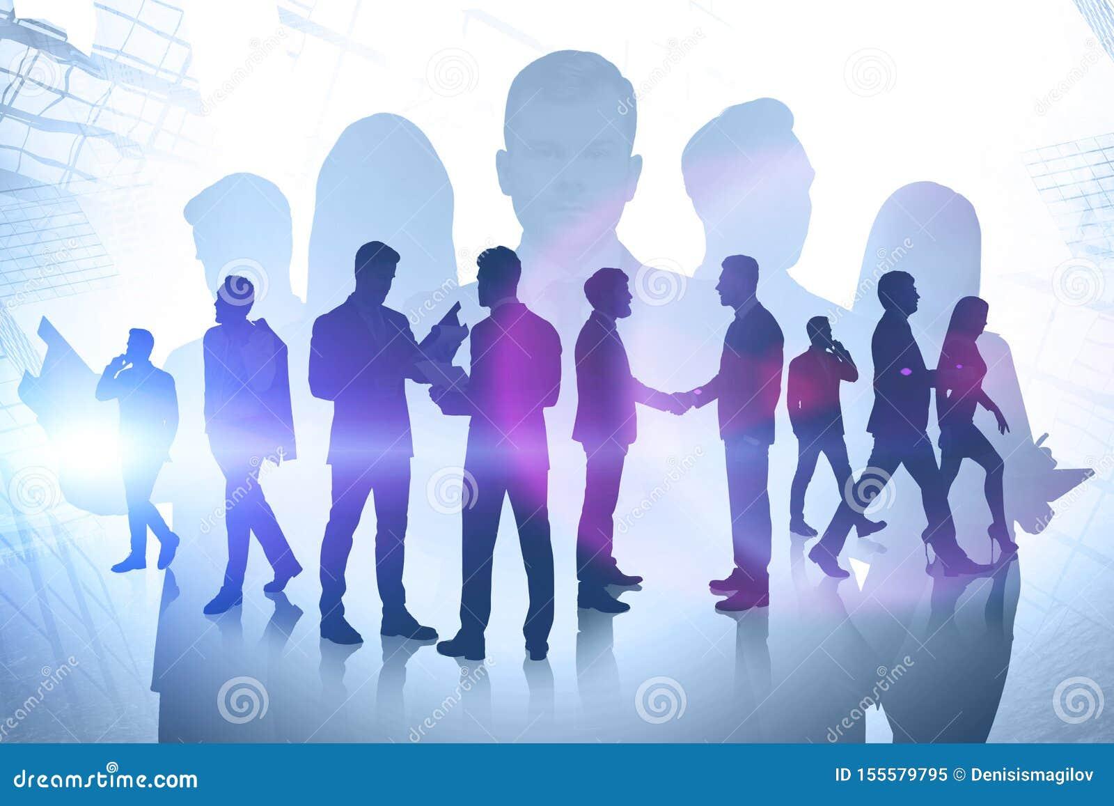 Partnerskap- och affärssamarbetsbegrepp