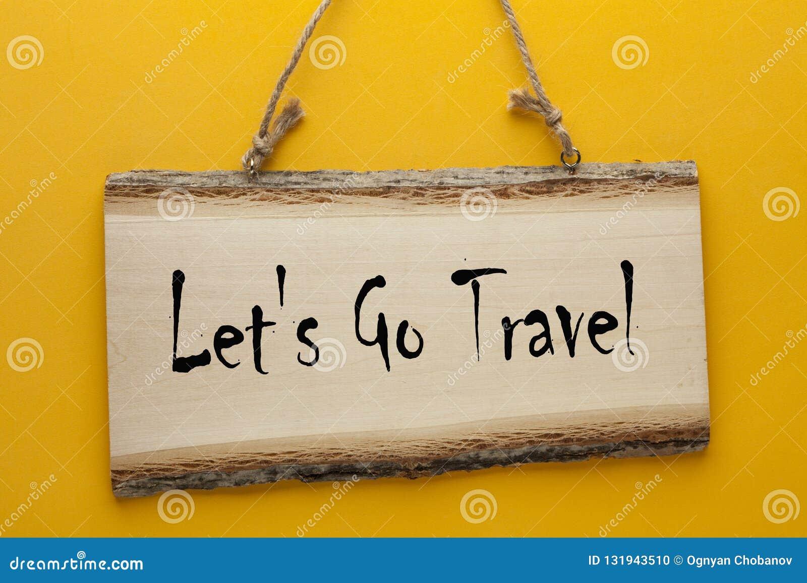 Partons pour voyager concept