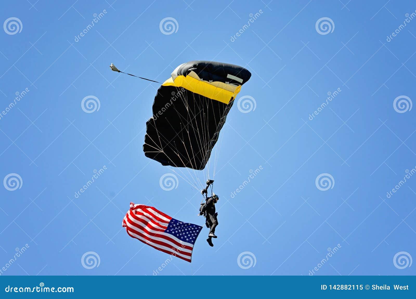 Partrooper van de Militaire Academie van Verenigde Staten