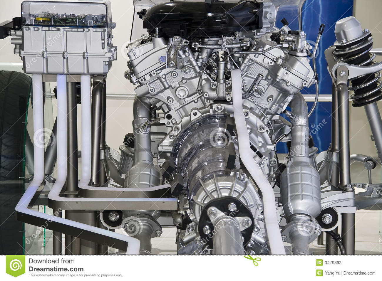 Parts of car engine stock photo. Image of automobile, technological ...