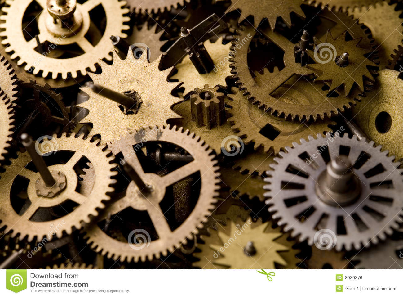 Parts Of Clocks Stock Photo Image Of Detail Metal Clock