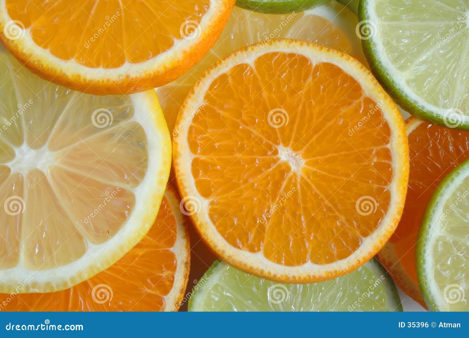 Parts de fruit