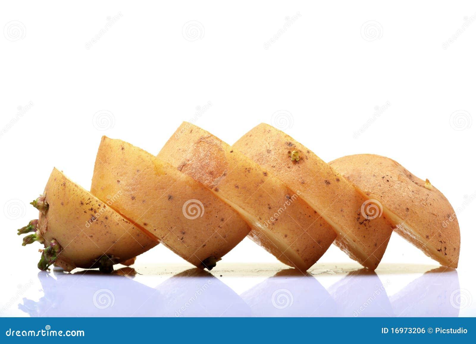 Parts de pomme de terre