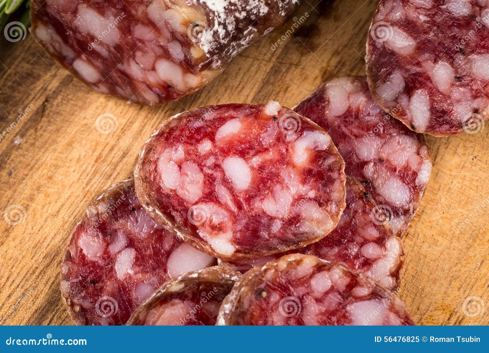 Parts de salami