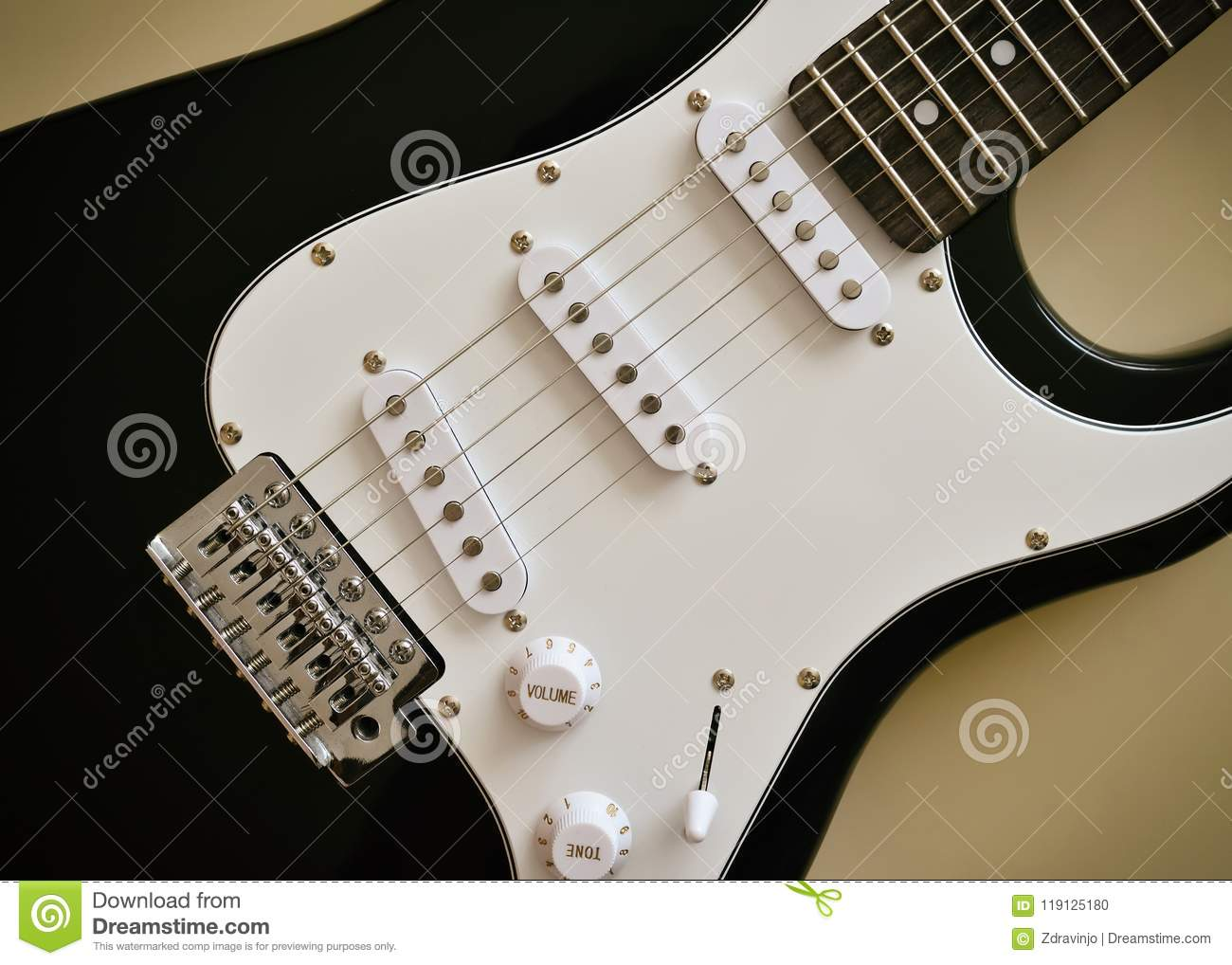 Parts Of Electric Guitar Body And Neck Stock Photo Image Metal Need To Know The