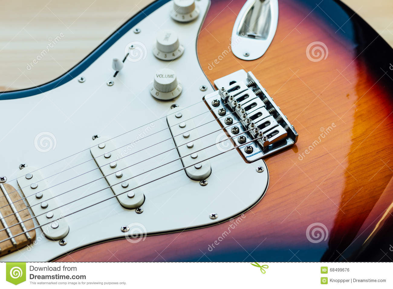 Parts Of Electric Guitar Stock Photo Image Musical 68499676 The Download