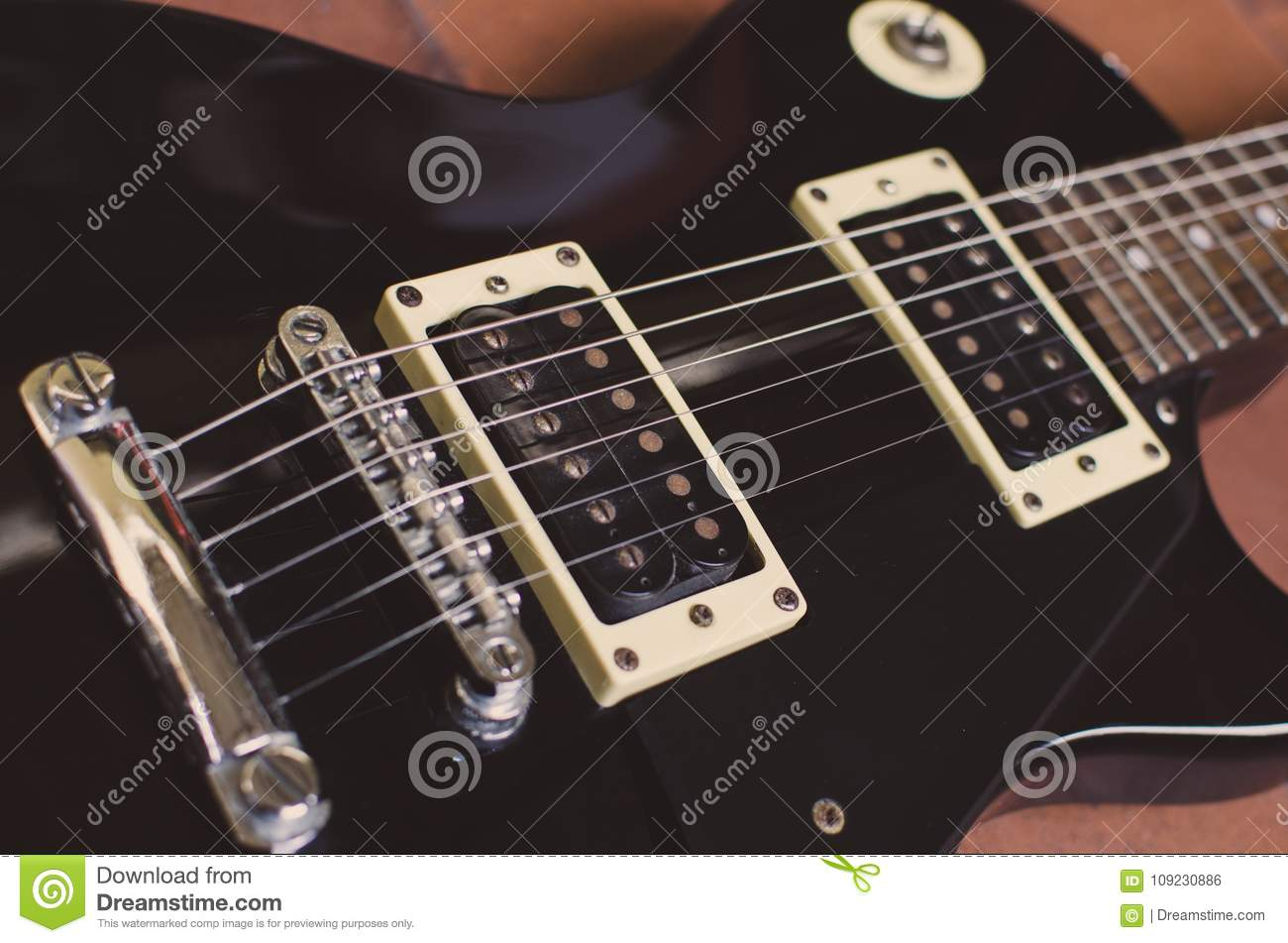Guitar Stock Photo Image Of Roll Parts Black 109230886 A Electric