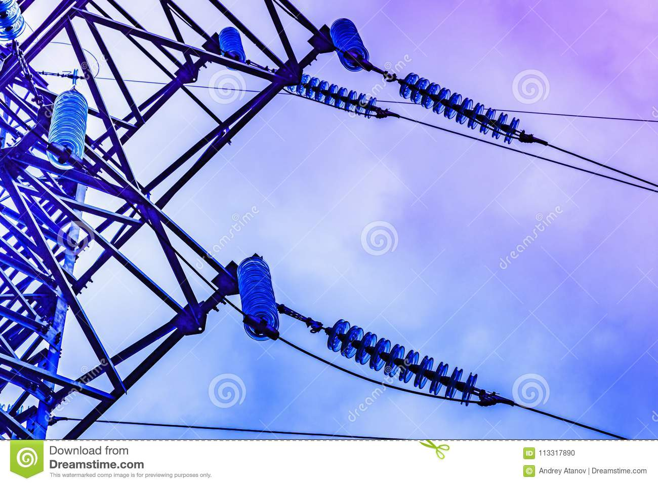 Parts Of High Voltage Electricity Pylons And Transmission Power ...