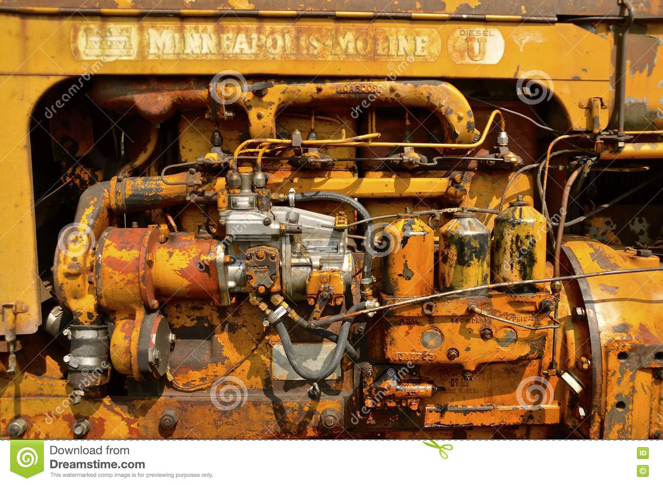 External Parts Of A Tractor : Parts of an old minneapolis moline tractor engine