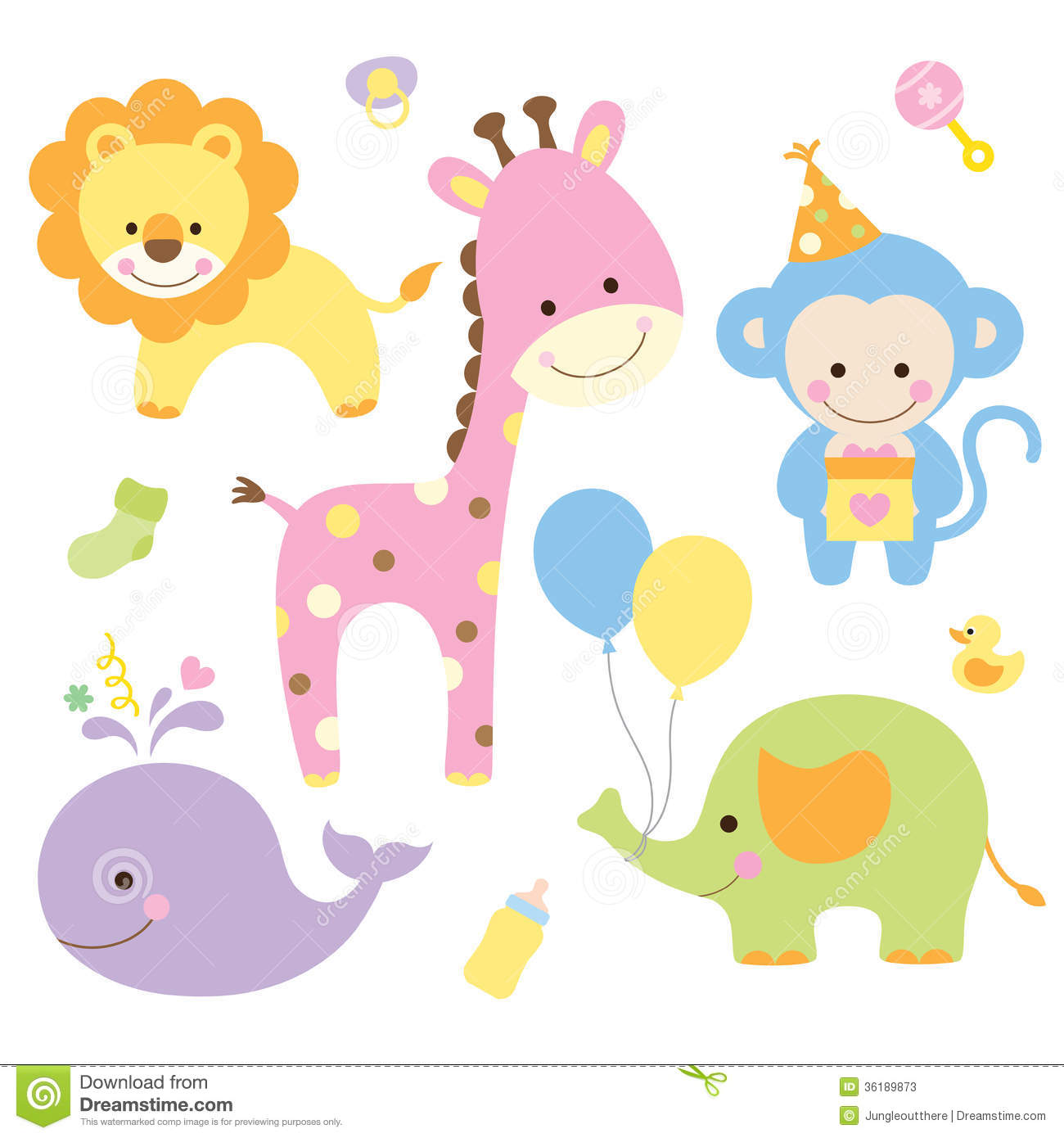 party animals stock photos image 36189873 free cartoon jungle animal clipart free baby jungle animal clipart