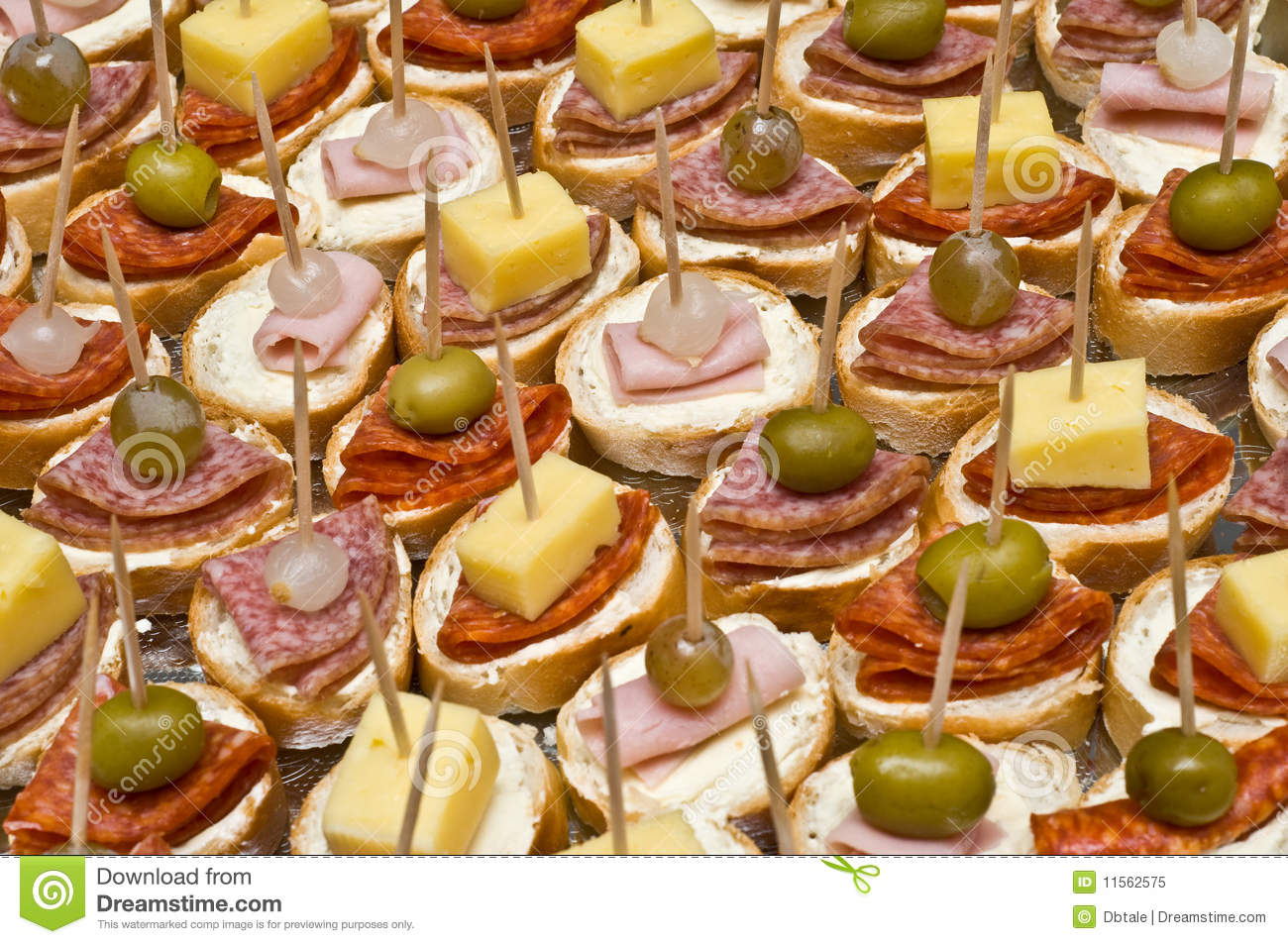 Party Appetizers On Wooden Sticks Royalty Free Stock Photo - Image ...