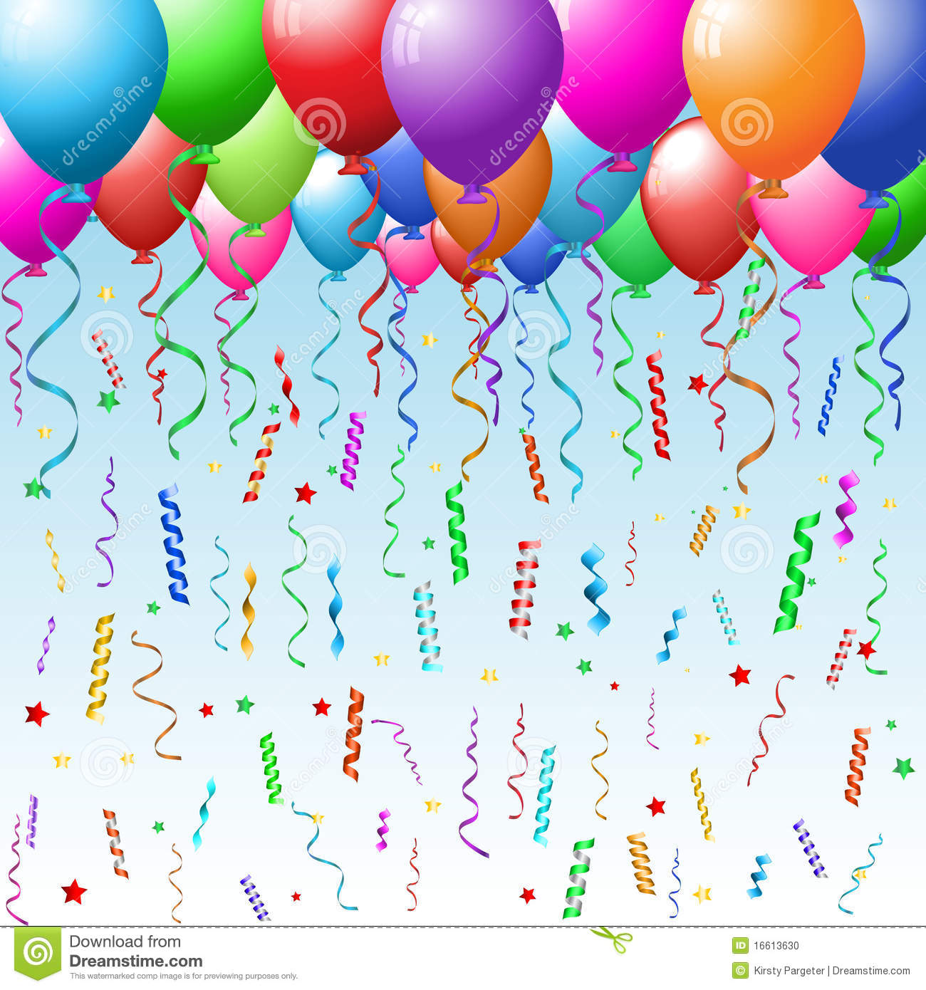 Party Background With Balloons Stock Photo - Image: 16613630