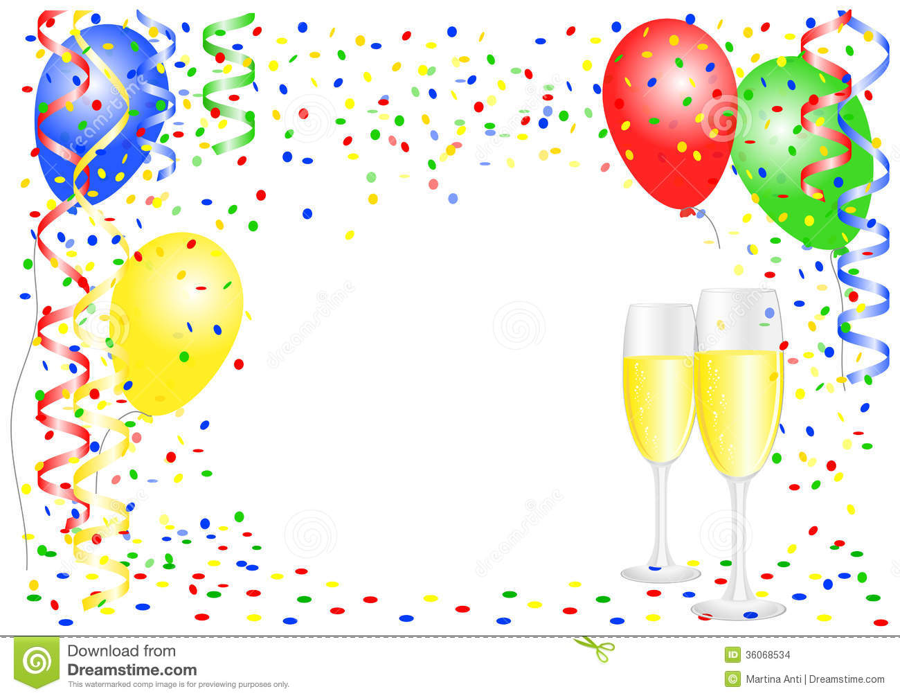 Party Background With Balloons Stock Images Image 36068534