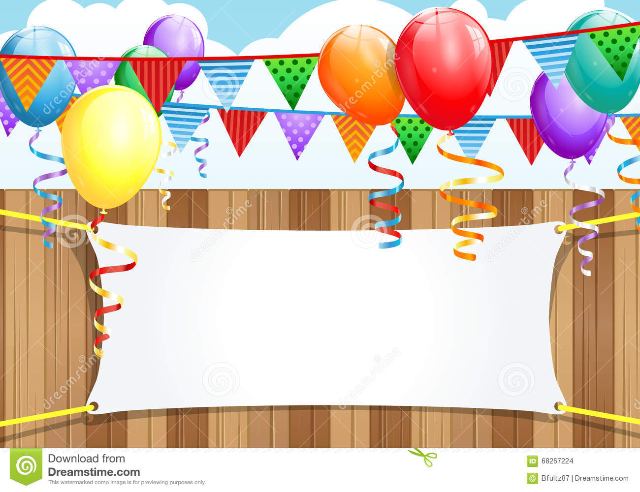 Party Background Stock Illustration Of Birthday
