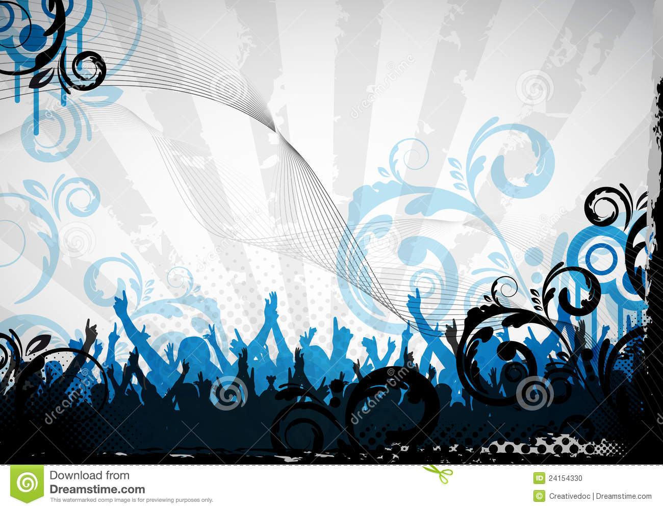 Party Background And Floral Design Stock Vector - Image