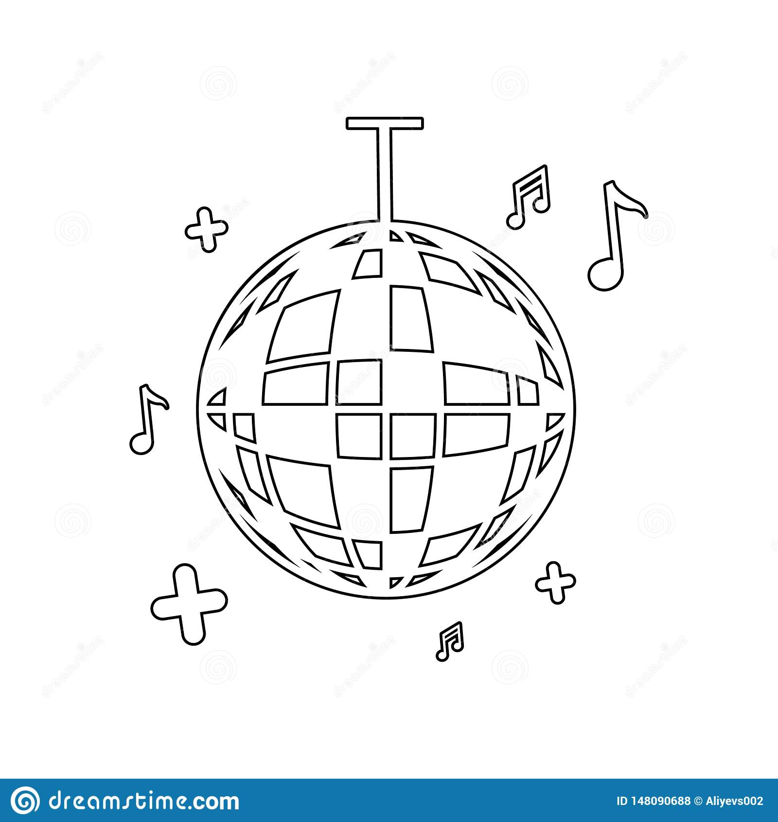 Party Ball Icon  Element Of Music Instrument For Mobile