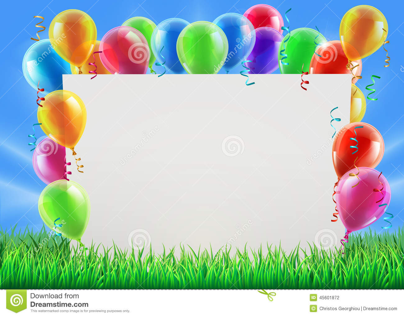 Party Balloon Sign Stock Vector Image 45601872