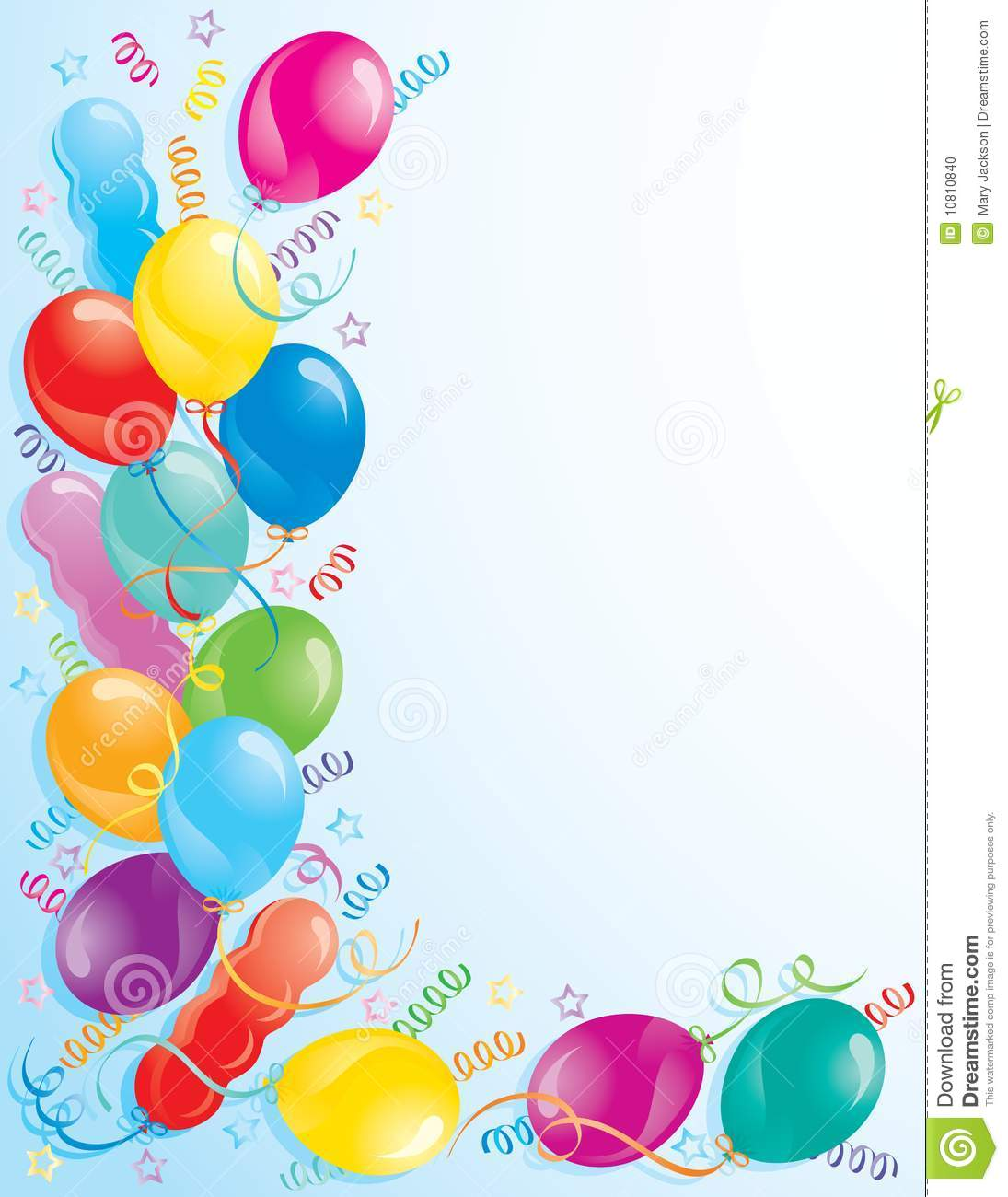 Party Balloons Stock Photo - Image: 10810840