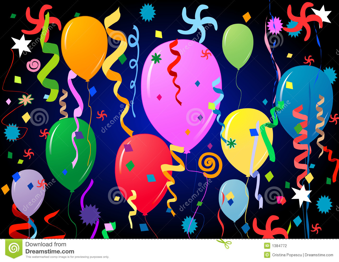 Party Balloons Stock Photography - Image: 1384772
