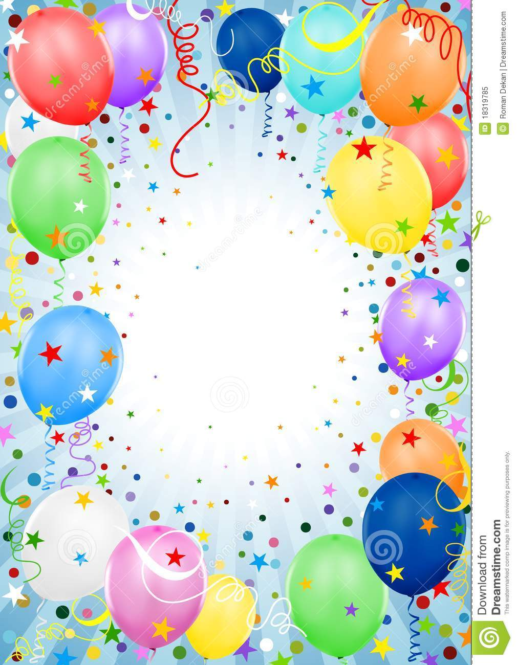 Party Balloons Royalty Free Stock Photo - Image: 18319785