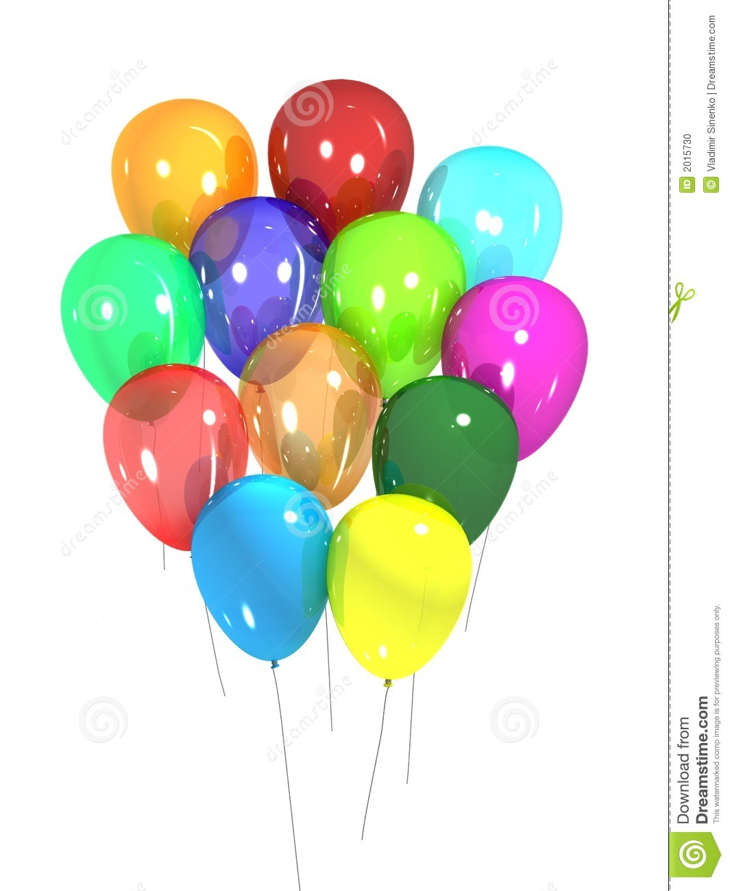Party Balloons Stock Photo Image 2015730
