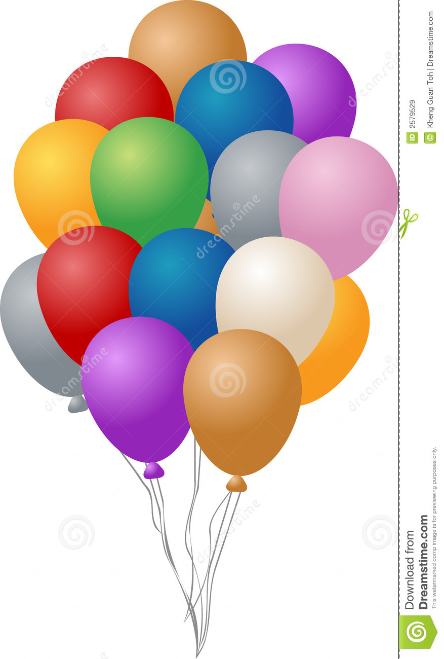 Party Balloons Royalty Free Stock Images - Image: 2579529