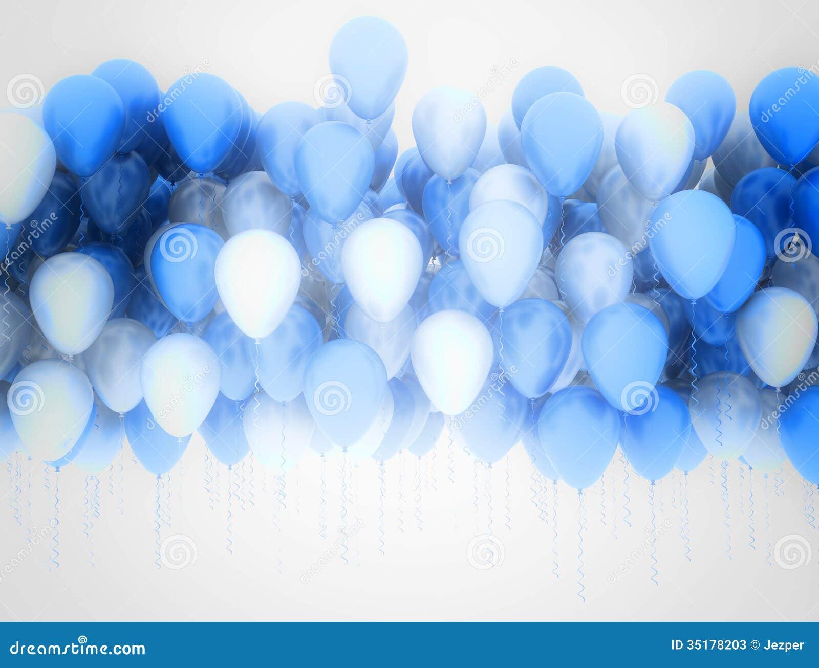 party balloons background stock illustration illustration of blue