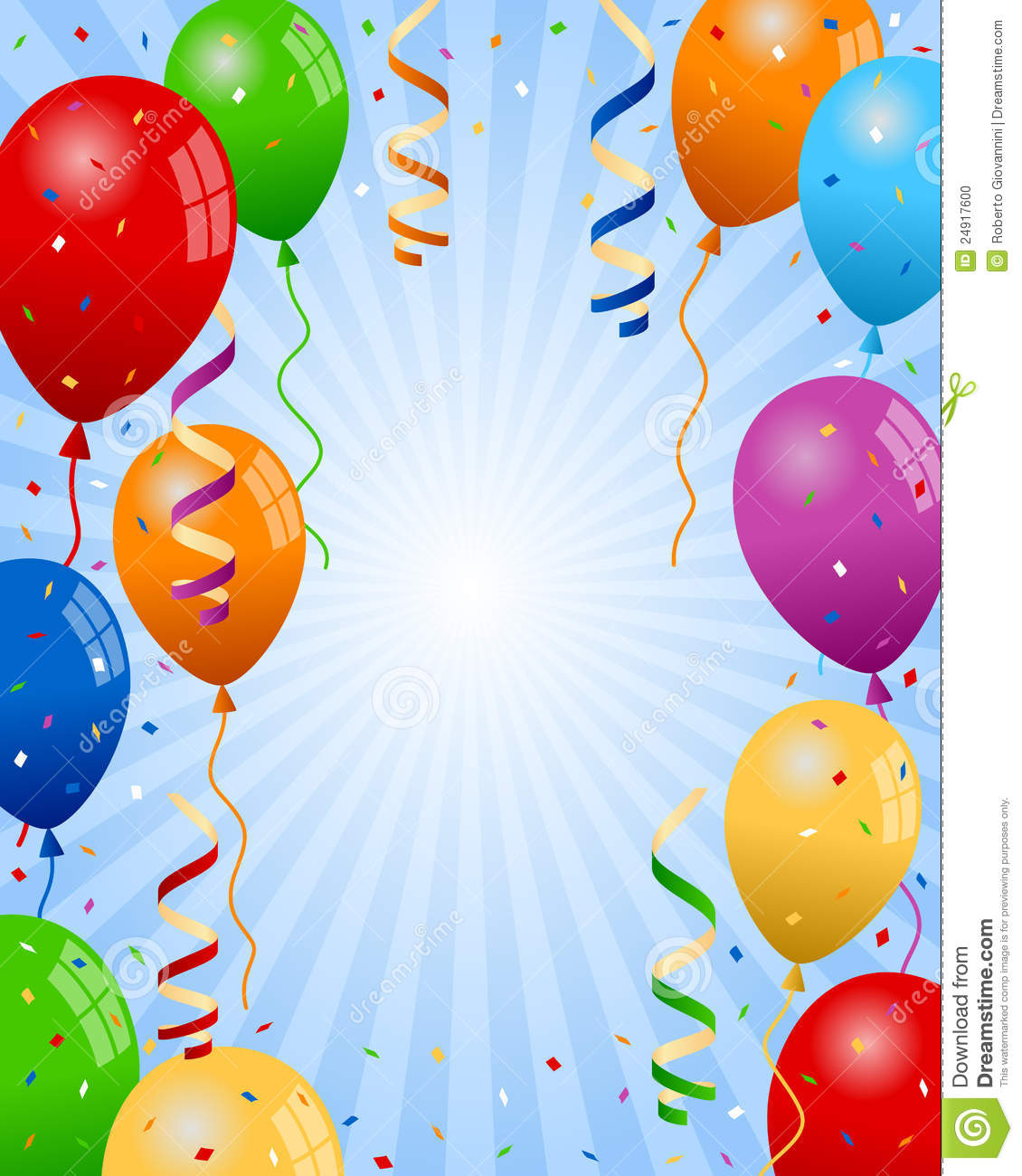 Party Balloons Boy Background Stock Photo - Image: 24917600