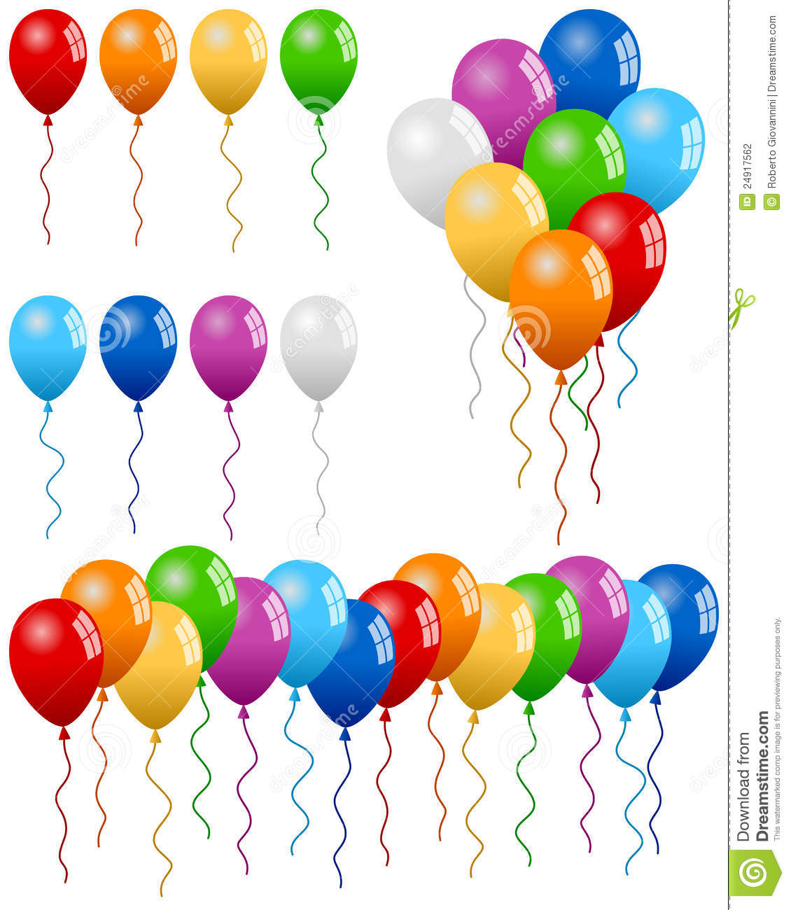 Party Balloons Collection Stock Photography - Image: 24917562