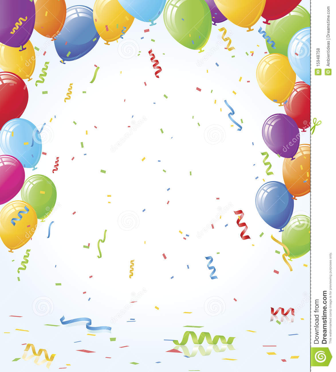 Party Balloons And Confetti Royalty Free Stock Photos ...