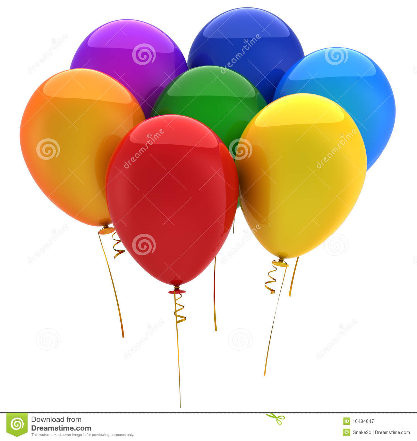 Green and blue balloons - Blue Cyan Green