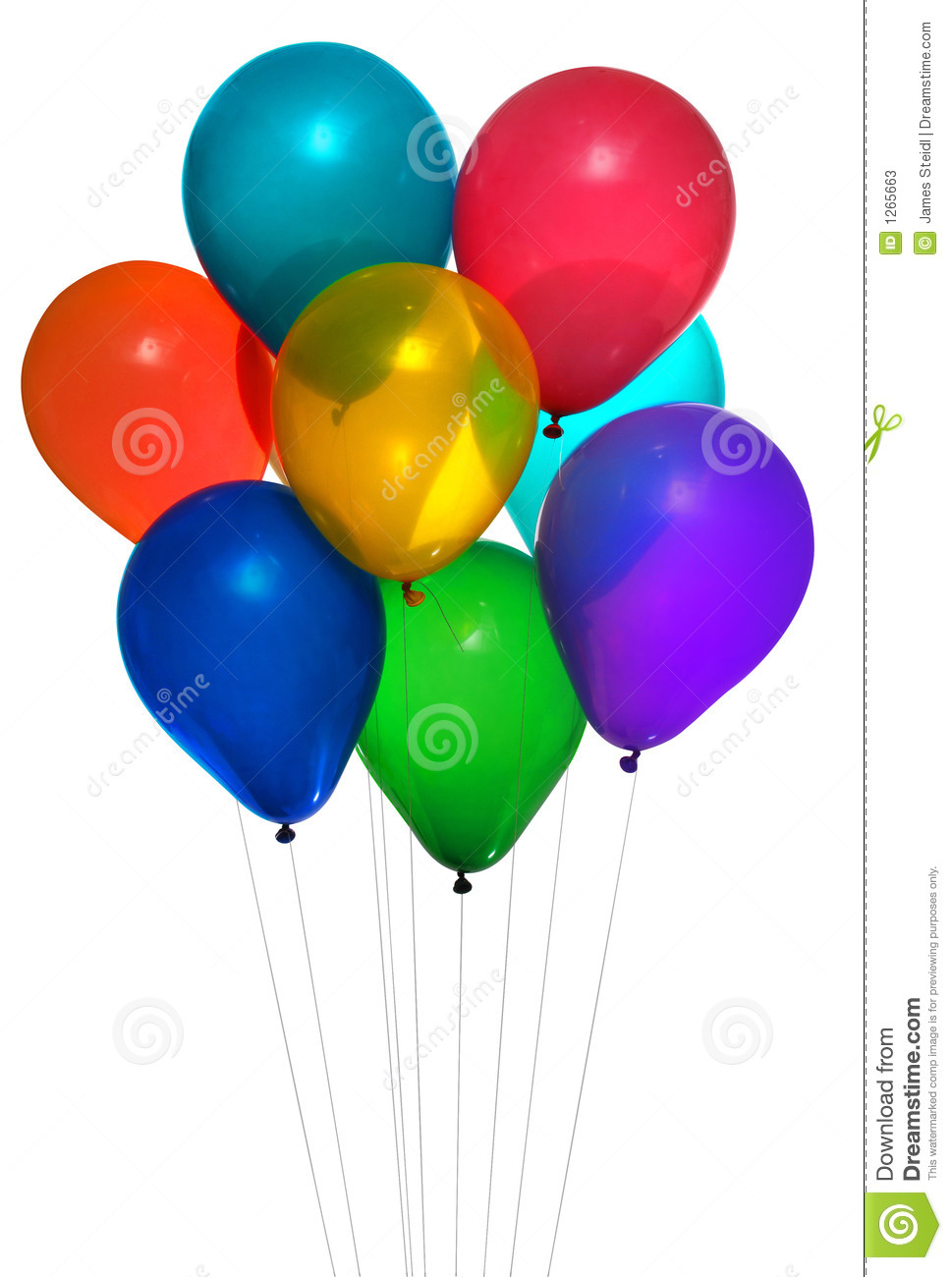 Party Baloons Stock Photos - Image: 1265663