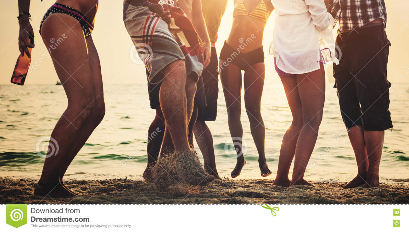 Party Beach Summer Friends Together Fun Concept