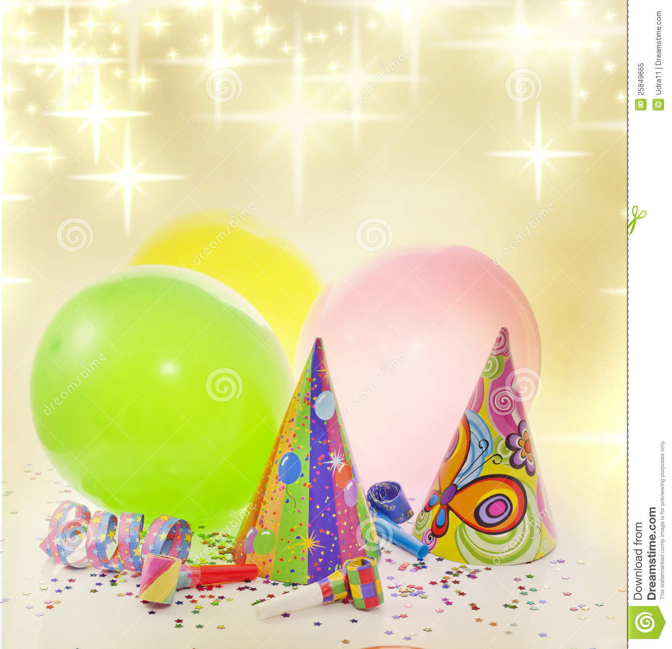 party birthday new year background
