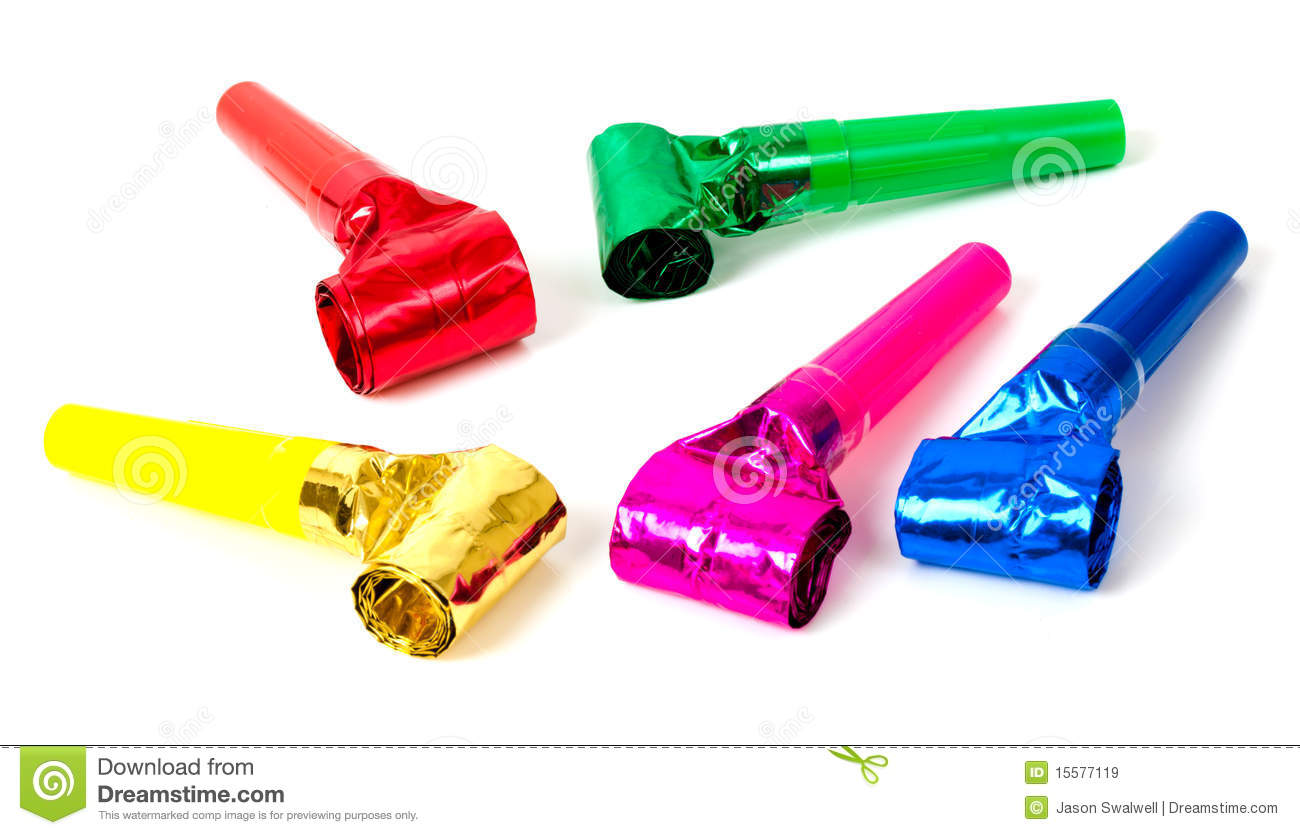 Party Blower: Party Blowers Royalty Free Stock Images