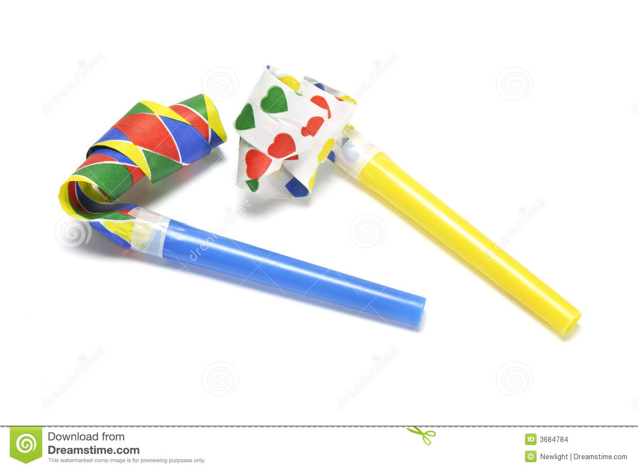 Party Blower: Party Blowers Stock Images