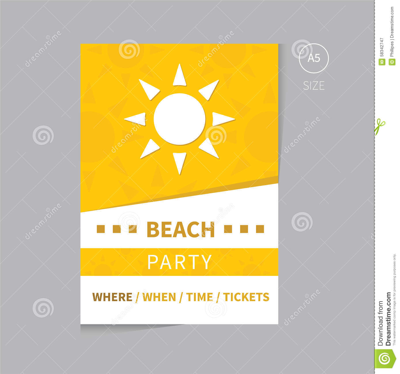 Blank event poster template the image for Party brochure template